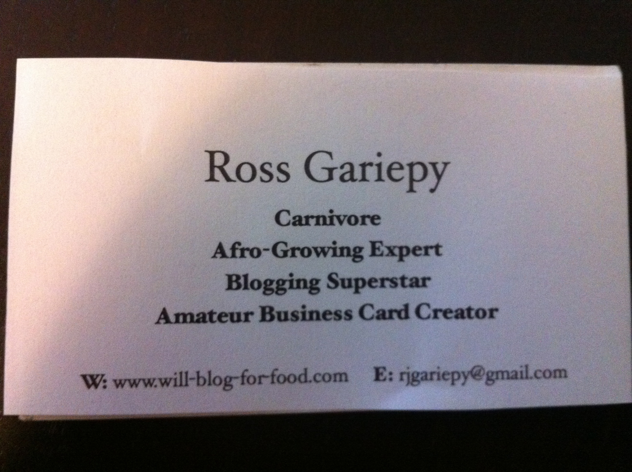 business cards for unemployed people willblogforfooddotcom 2800
