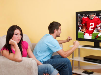 women watching footbal