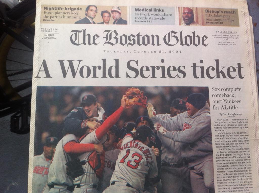 boston globe 2004